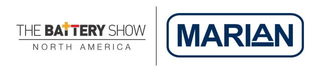 Battery Show and Marian Logos